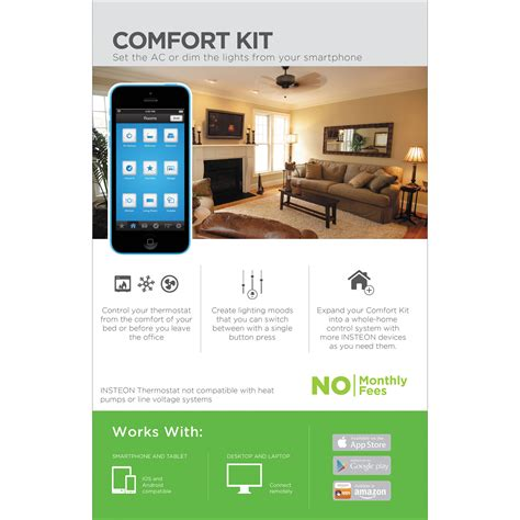 insteon comfort home automation kit 2582 232 b h photo