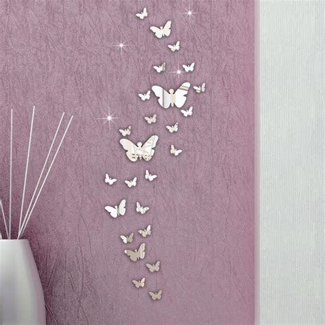 sale 3d wall stickers mirror butterfly home decor