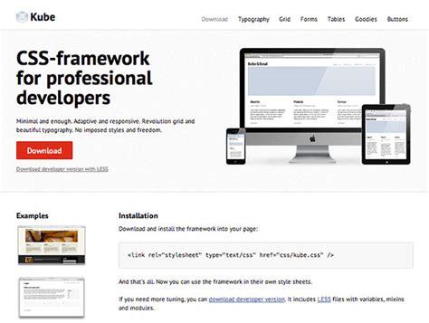 layout css framework kube css framework best web design tools