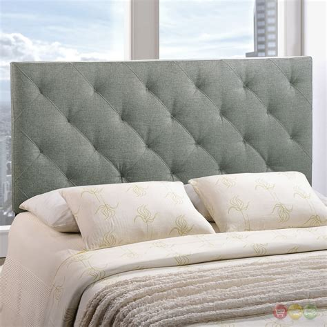 tufted fabric headboard theodore tufted pattern fabric headboard gray