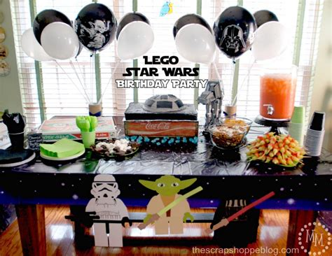 Fall Decorations Home by Lego Star Wars Birthday Party The Scrap Shoppe