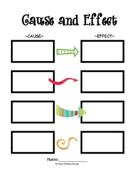 cause and effect diagram template free freebie cause and effect template that can be used with