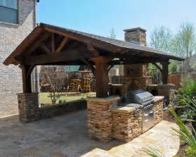 outdoor covered patio structures overhead structure grilling station fireplace