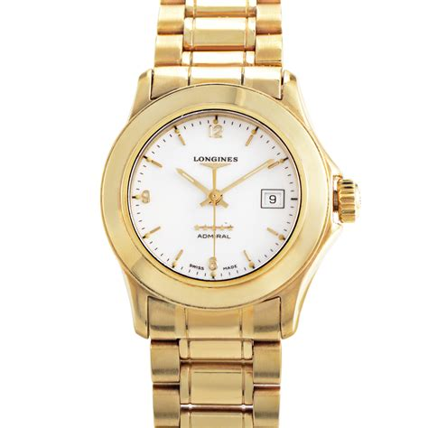 longines 18k yellow gold quartz l31046266 ebay