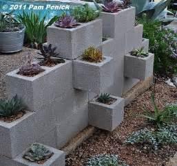 concrete block planter garden craft ideas
