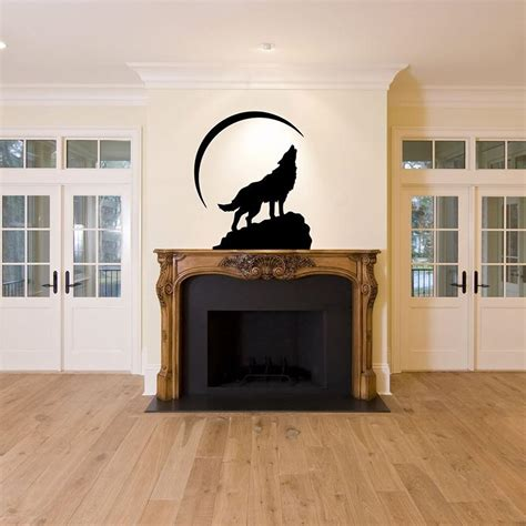 wolf bedroom decor wolf moon story decal vinyl diy home room decor art wall stickers bedroom