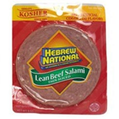 hebrew national calories hebrew national lean beef salami thin sliced calories nutrition analysis more