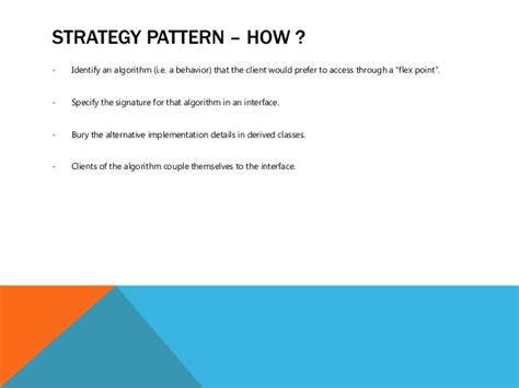 strategy pattern net exle strategy pattern how