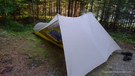 the awning guy sierra designs tensegrity 1 ultralight tent review section hikers backpacking blog