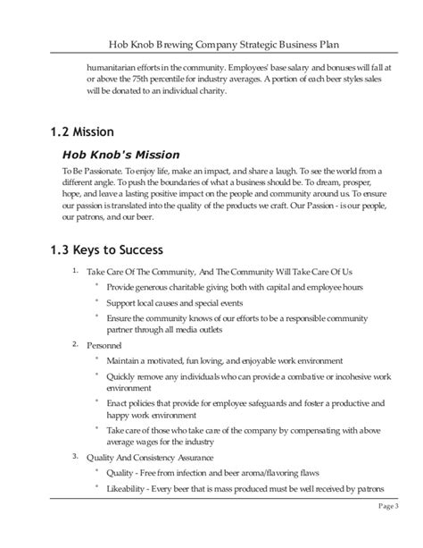 Brewery Business Plan Template brewery business plan sle