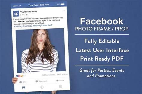 fb frame facebook photo frame prop graphics creative market