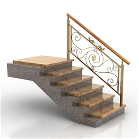 home design 3d gold stairs stairs handrails elevation 3d models stair n240810