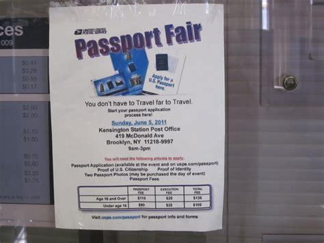 Post Office Passport by Karmabrooklyn Kensington Post Office Passport Fair Flyer