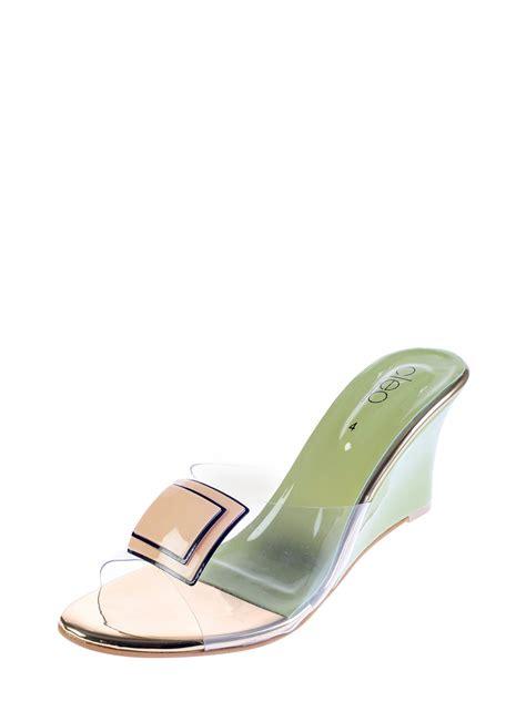 Casual Heel cleo green casual heel sandal