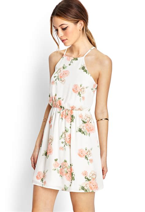 Branded Ny Collection Tosca Colorful Flower Dress forever 21 blooming floral fit flare dress in white lyst