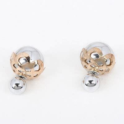 Anting Tusuk Butterfly Shape Decorated Hollow Out Design monarch silver color shape decorated hollow out design alloy stud earrings asujewelry