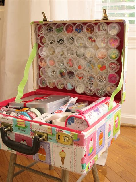 craft box for creative ways to recycle and reuse vintage suitcases