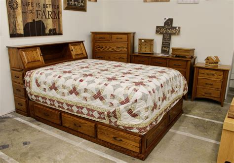 space saving queen bed space saver bookcase pedestal queen bed amish traditions wv