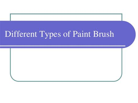 what type of paint to use in a bathroom different types of paint brush
