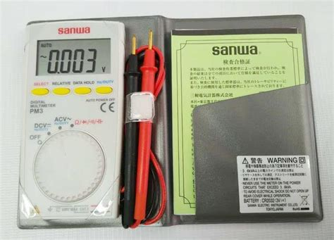 Multimeter Digital Sanwa Pm3 sanwa pm3 digital multimeter end 12 27 2017 2 15 pm myt