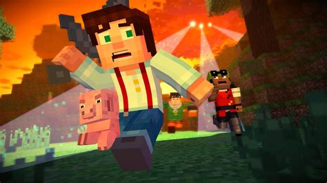 minecraft story mode minecraft story mode review blocky escapades