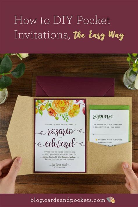 Best 25  Pocket invitation ideas on Pinterest   DIY cards