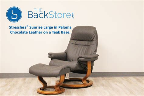 stressless sunrise recliner stressless sunrise large paloma chocolate color leather by
