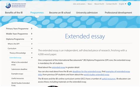 Extended Essay Guide by Ib Extended Essay The Extended Essay Carson Graham Secondary Ayucar