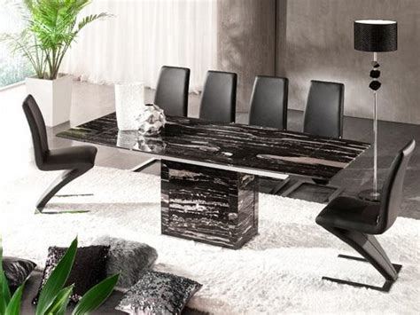 zeus black nero marble extending dining table 6 chairs