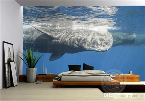 Paint By Number Wall Murals 3d ocean wallpaper whale photo wallpaper natural scenery