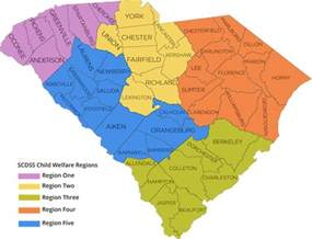 carolina regions map south carolina department of social services families
