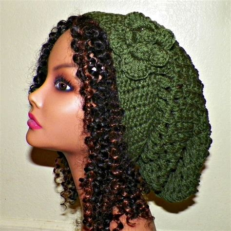items similar to slouchy womens sale green slouchy hat rasta womens crochet hippie tam