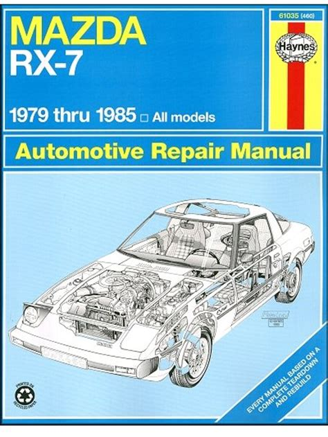1983 mazda rx 7 workshop service manual for sale carmanuals com mazda rx 7 repair workshop manual 1979 1985 haynes 61035