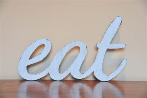 home decor words eat wood sign words home decor kitchen