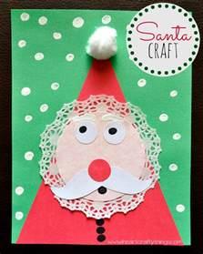 kids santa craft heart crafty