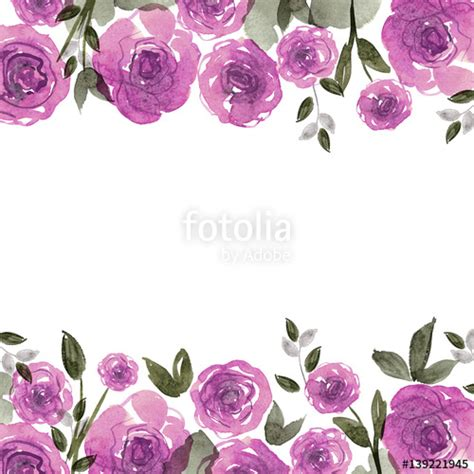 Vector Backgrounds With Roses For Invitations quot watercolor flower background with roses invitation