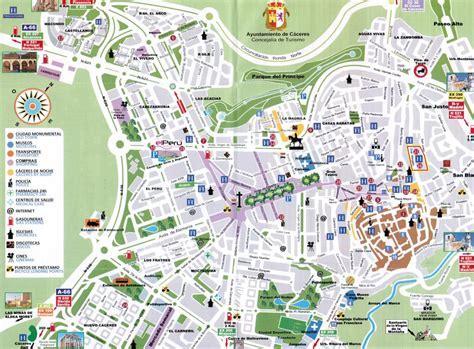 callejero coria caceres mapa de c 225 ceres tama 241 o completo
