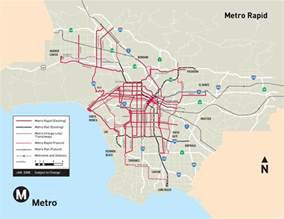 La Metro System Map by Los Angeles Metro System Map Mapsof Net