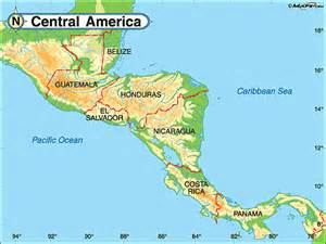 physical map of central and south america central america physical map by maps from maps