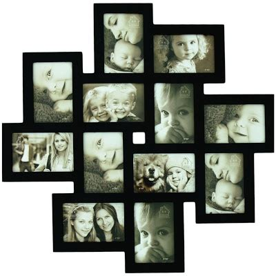 wall collage picture frames 12 opening wooden wall black collage photo picture frame