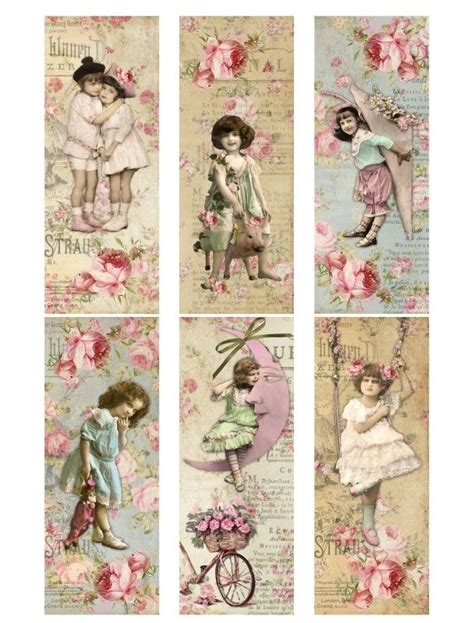 printable victorian bookmarks vintage printable shabby chic labels vintage printables