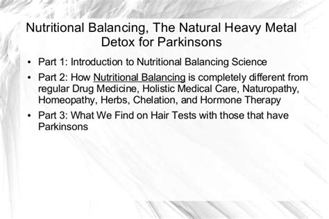 Wellness Detox Center Parkinsons by Hair Analysis And Nutritional Balancing What We Find On