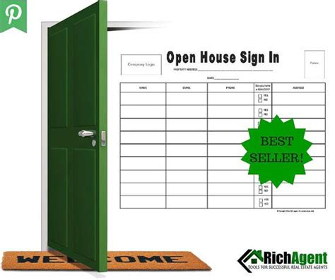 sign in sheet for open house real estate open house sign in sheet best seller real estate forms open house real estate