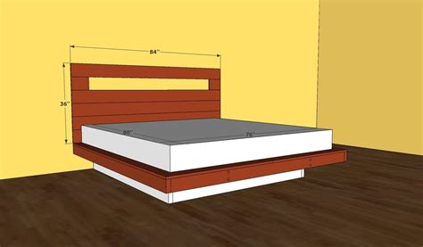 diy floating platform bed platform bed frame plans youtube