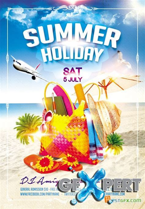 template photoshop summer free flyer psd template summer holiday facebook cover