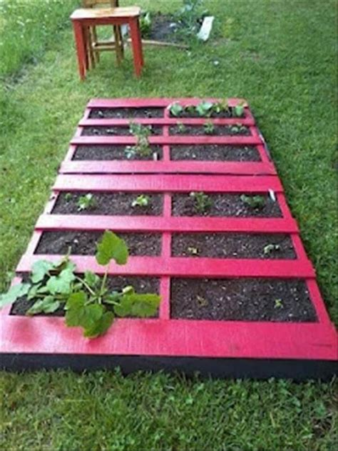 diy pallet garden bed diy pallet gardens 20 creative ways to use pallets 99