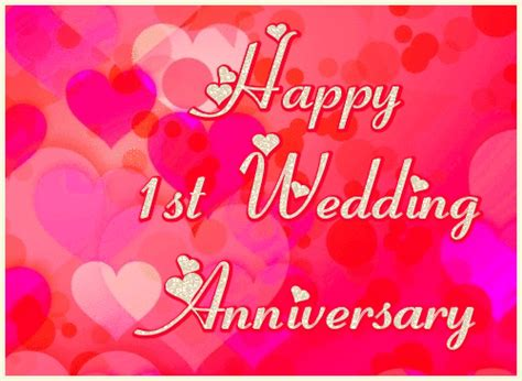 Wedding Anniversary Ecards Free by Happy 1st Wedding Anniversary Ecard Free Greetingshare