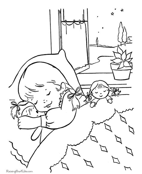 sleeping coloring az coloring pages