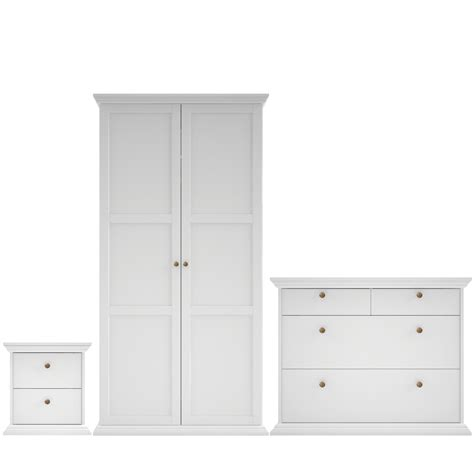 B Q Wardrobe by White 3 Bedroom Furniture Set Departments