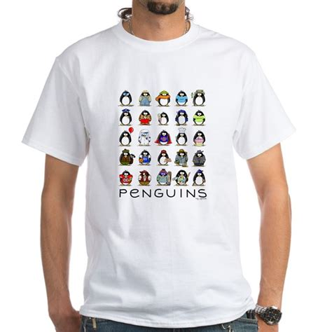 020 Blouse White Pinguin lots of penguins shirt by lilpenguinshop